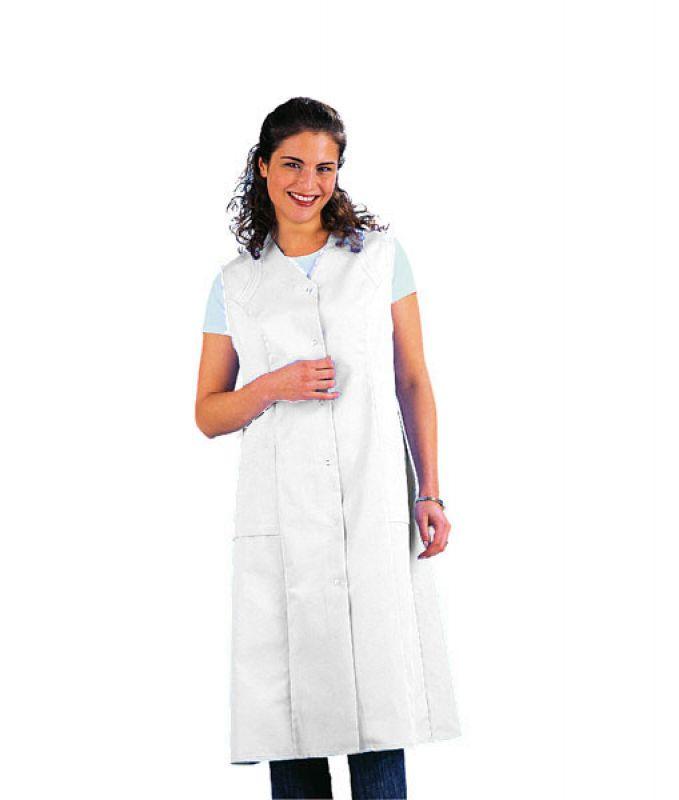 clean dress kasack kittel 1 1 lang ohne arm weiss. Black Bedroom Furniture Sets. Home Design Ideas